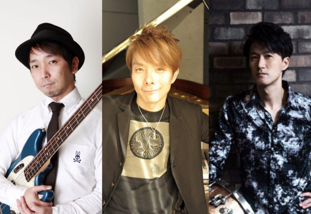 扇谷研人(Piano)、藤谷一郎(bass)、福長雅夫(percusssion)